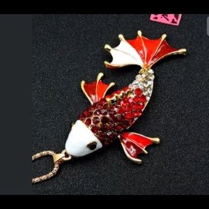 Betsey Johnson lucky fish necklace